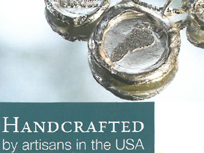 Handcrafted by artisans in the USA